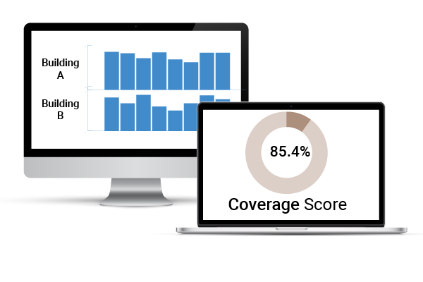 LogCheck Portfolio, Organization, and Coverage Score View
